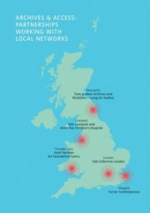 Map of partnerships for Archives & Access Learning outreach programme
