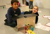 Kids with light lab