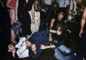 Chris Steele-Perkins, Fight in night club, London, from The Pleasure Principle, 1980–9
