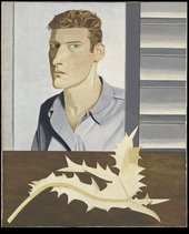 Lucian Freud Man with a Thistle (Self-Portrait) 1946