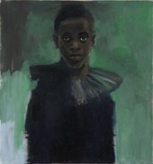Portrait of man in black