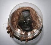 Lynn Hershman Leeson, Breathing Machine, 1967, wax, wig, glass eye, makeup, Plexiglas, wood, sensors, sound, 32 × 42 × 42 cm - The Museum of Modern Art, New York, © Lynn Hershman Leeson, courtesy the artist
