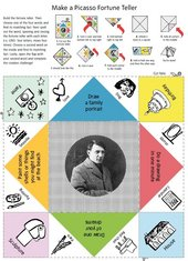 Page one of the Picasso Fortune Teller download