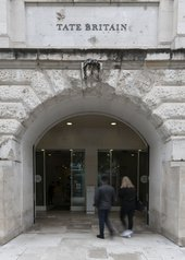 Tate Britain Manton entrance glass doors.