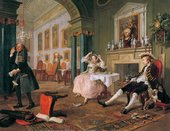 William Hogarth, Marriage A-la-Mode: 2, The Tête à Tête, c 1743. The National Gallery, London