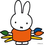 Miffy with paintbrushes