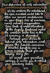 A letter to arts eduactors