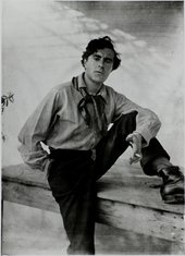 Black and white photo of Modigliani