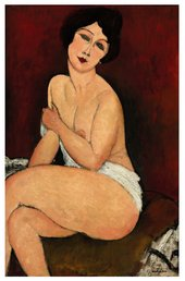 Painting of a nude woman by Modigliani