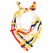 Silk scarf with a design from Piet Mondrian's iconic painting New York City 1942