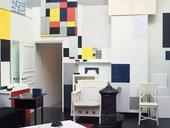 Piet Mondrian's studio