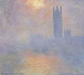 Claude Monet, London, Houses of Parliament. The Sun Shining through the Fog, 1904