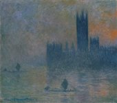 Claude Monet, Houses of Parliament (Effect of Fog), 1903–4