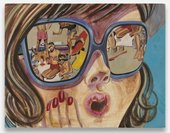 Ella Kruglyanskaya, Girl with Sunglasses 2008 Egg Tempera on panel 356 x 457 mm Courtesy the Artist, and Gavin Brown's enterprise New York/Rome.
