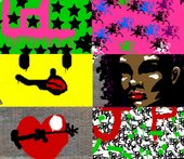 A selection of street art created on Tate Kids games