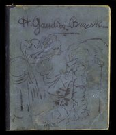 From Collection owner: Henri Gaudier-Brzeska, Henri Gaudier-Brzeska, Sketchbook titled 'Journal' 1911