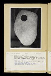 Dame Barbara Hepworth, Unknown person(s), Page 1 From Dame Barbara Hepworth, Volume of sculpture records 1962 © Bowness & © Morgan Wells