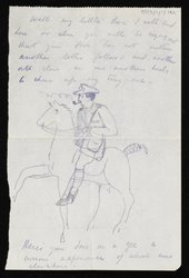 Partial letter (final page only) from Paul Nash to Margaret Nash written from France while on commission to make drawings at the Front as a war artist