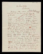 Letter to Ben Nicholson and Barbara Hepworth, from Ben's father William in La Rochelle