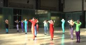 film still from recording of the event If Tate Modern was the Musee de la danse