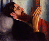 Dora Carrington Lytton Strachey 1916 National Portrait Gallery