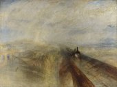 J.M.W. Turner's painting of a train passing over a bridge