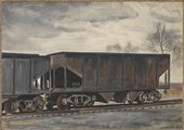 Fig.1 Charles Burchfield, Freight Cars in March 1933
