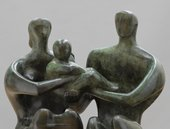 Henry Moore OM, CH Family Group 1949, cast 1950–1