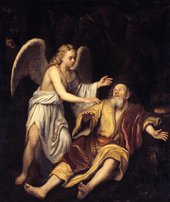 Fig.1 Godfrey Kneller 1646‒1723 Elijah and the Angel 1672 Oil paint on canvas 1775 x 1486 mm N06222