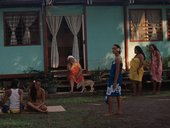 Nashashibi/Skaer Why Are You So Angry? film still showing Polynesian women in evening light