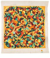 Natalia Goncharova, Design with birds and flowers, study for textile design for House of Myrbor, 1925–9, gouache and graphite on embossed paper, 74.5 x 67 cm