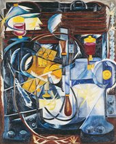 Natalia Goncharova, Dynamo Machine, 1913, oil paint on canvas, 116 x 102 cm