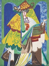 Natalia Goncharova, Orange Seller, 1916, oil paint on canvas, 131 x 97 cm