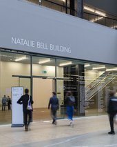 Entrance to the Natalie Bell building.