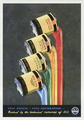 British advertisement for ICI Dulux paint from 1956