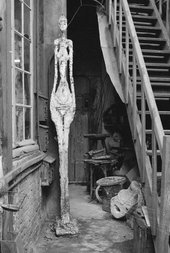 "Stairs with ""Femme debout"", entrance of the studio, ca. 1962"
