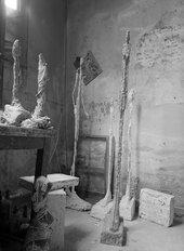 Studio-view with sculptures, ca. 1955