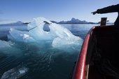 Harvesting ice floating in Nuup Kangerlua, Greenland  Photo: Jørgen Chemnitz  © Olafur Eliasson