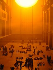 Sun-like installation in turbine hall