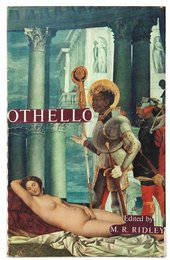 Collaged book jacket for Othello