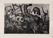 Otto Dix, Assault Troops Advance under Gas 1924