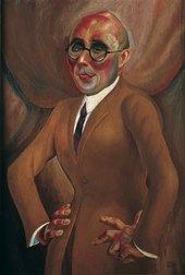 Otto Dix, Portrait of the Jeweller Karl Krall, 1923