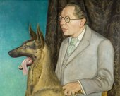 Otto Dix, Portrait of the Photographer Hugo Erfurth with Dog, 1926