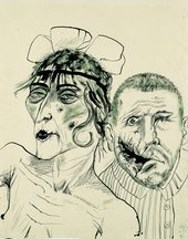 Otto Dix Prostitute and Disabled War Veteran. Two Victims of Capitalism 1923 LWL-Landesmuseu