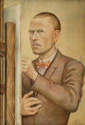 Otto Dix, Self-Portrait with Easel, 1926