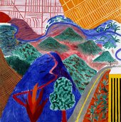 David Hockney Outpost Drive, Hollywood 1980