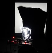 Cauleen Smith Black Utopia LP 2012–3, performance at REDCAT 2013, detail. Courtesy Krista Franklin