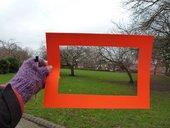 Cardboard viewing frame