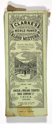 Packaging for Clarke's World-Famed Blood Mixture, c.1920s