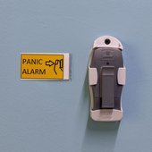 Panic button in the quiet room on level 4.